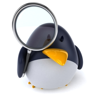 tux magnifying glass