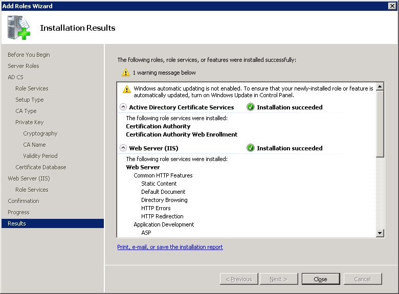 windows-server-2008-CA-IIS-installation-results