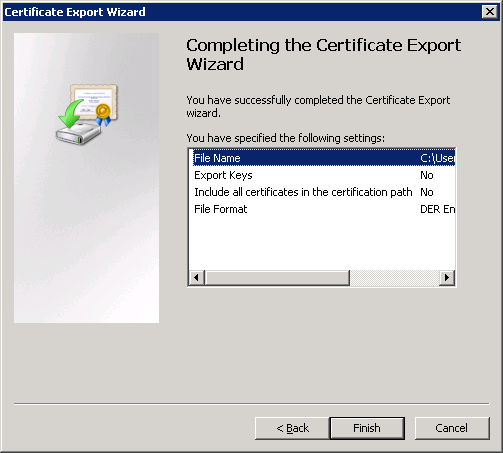 windows-server-2008-certificate-export-completed