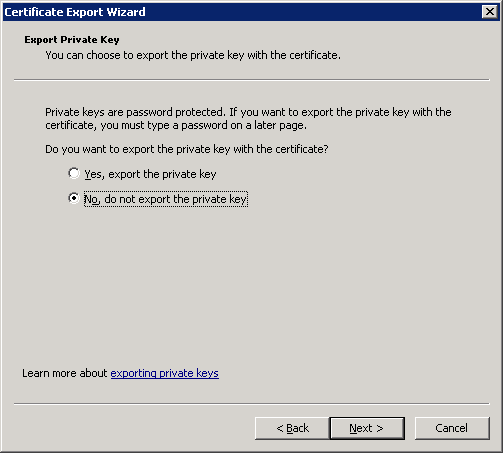 windows-server-2008-certificate-export-private-key