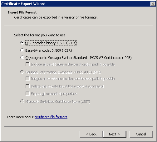 windows-server-2008-certificate-file-formats