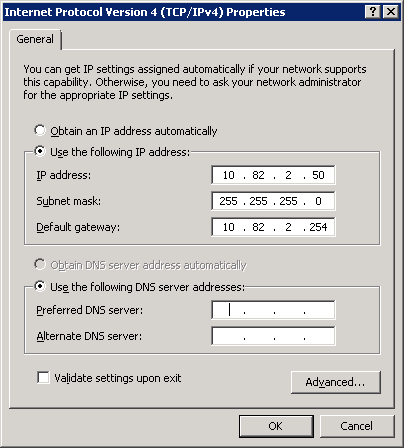 Windows Server 2008 Change IP Address