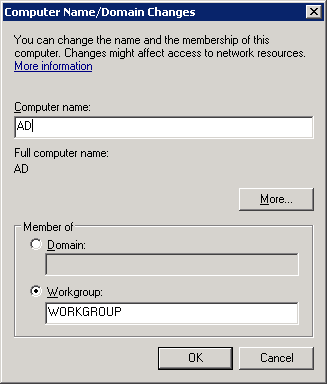 Windows Server 2008 Computer Name