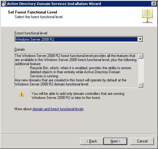 windows-server-2008-forest-functional-level-2008R2