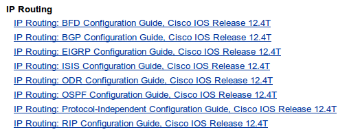 cisco support configuration ip routing