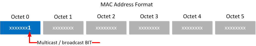 mac broadcast multicast bit