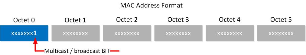 mac broadcast multicast bit