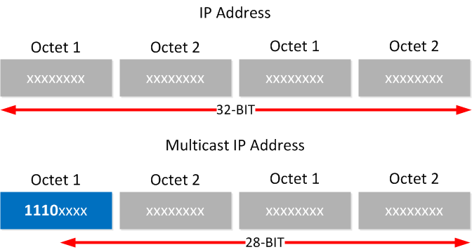 multicast 28 unique bits