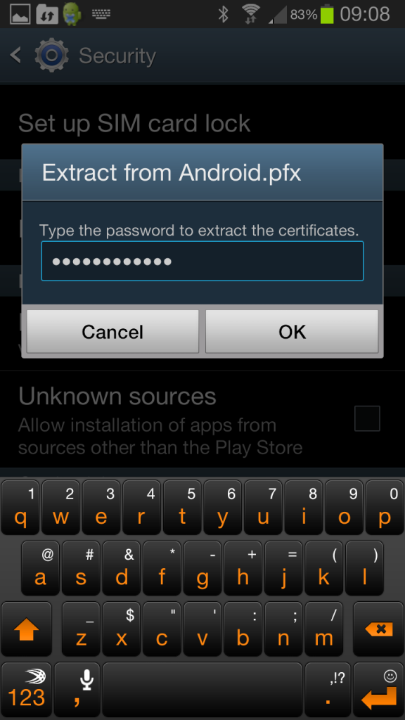 Android Extract Certificate