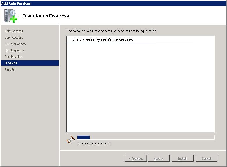 Windows Server 2008 AD Services Progress