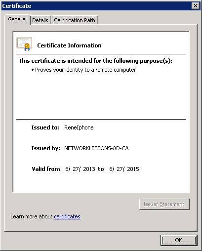 Windows Server 2008 Certificate