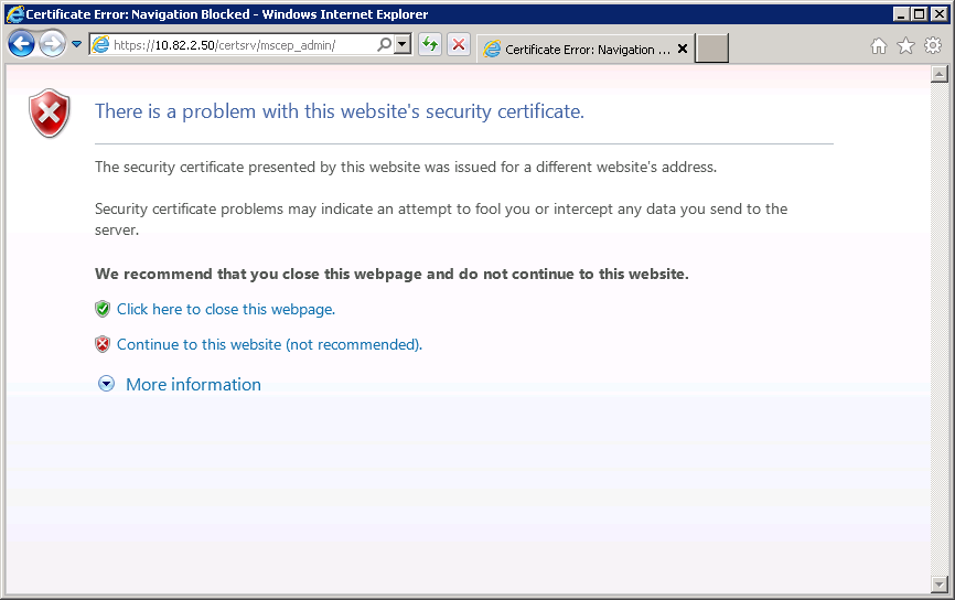 Windows Server 2008 MSCEP Admin