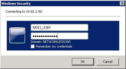 Windows Server 2008 MSCEP Authentication
