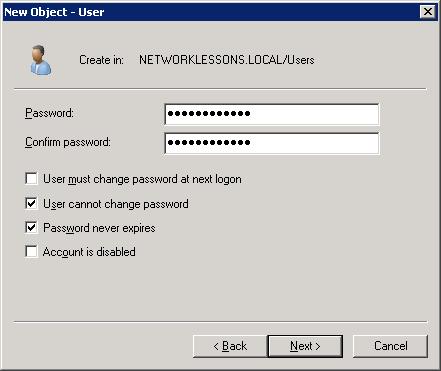 Windows Server 2008 NDES User Password