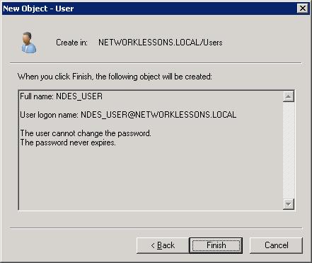 Windows Server 2008 New User Created