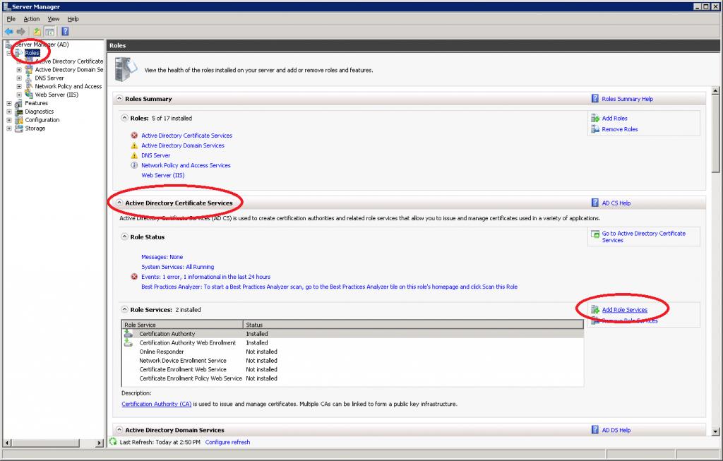 Windows Server 2008 Roles Add Role