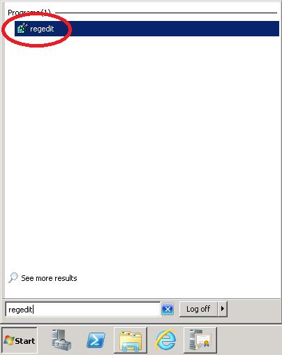 how to open regedit in windows server 2008