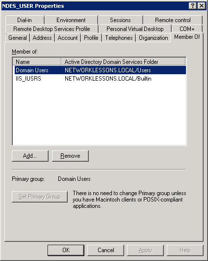 Windows Server 2008 User Groups