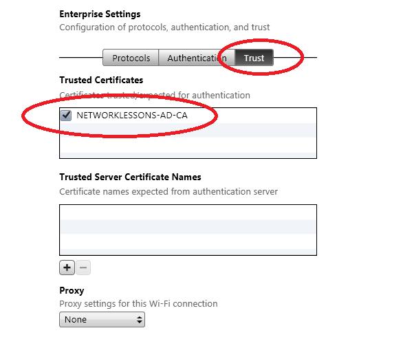 iPhone Configuration Wifi Trust