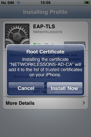iPhone Install Root Certificate