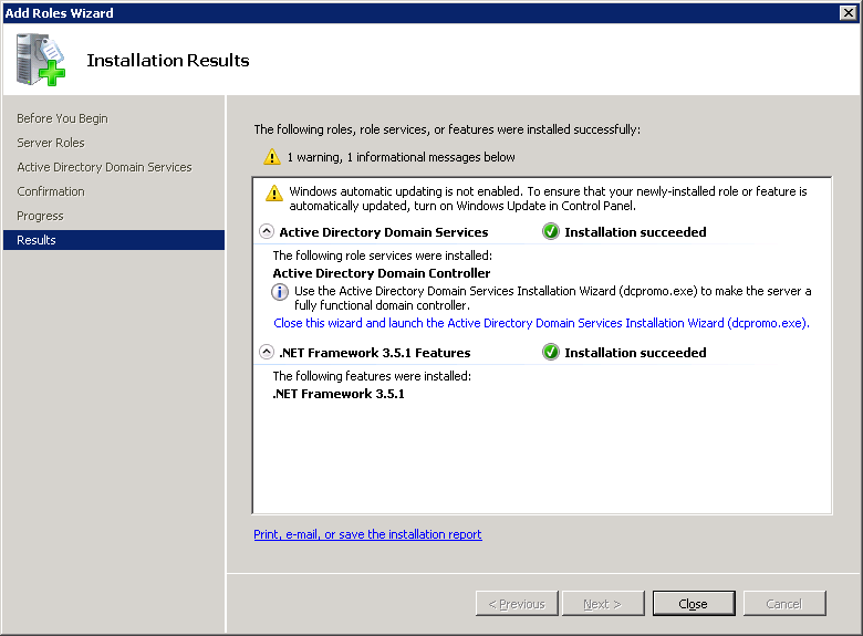 windows-server-2008-active-directory-installation-results