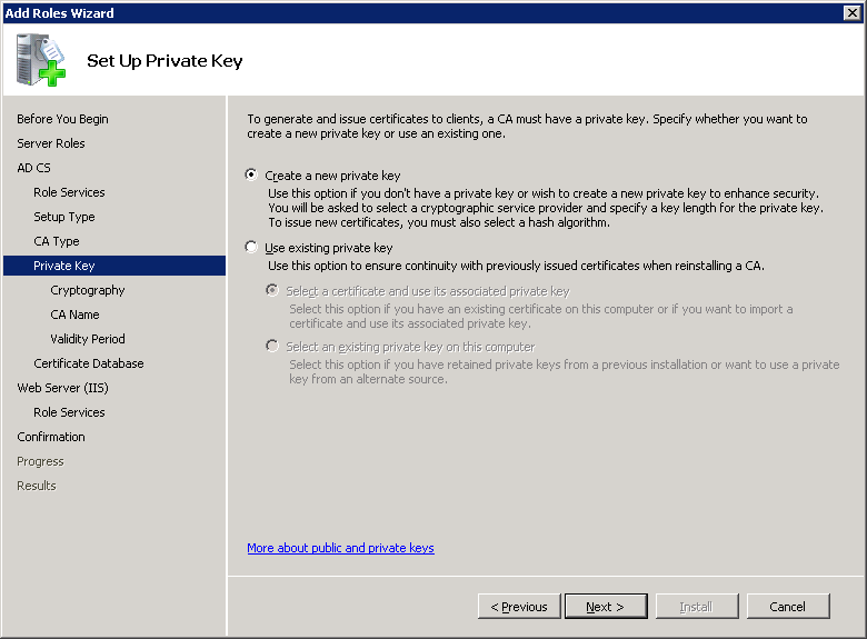 windows-server-2008-new-private-key