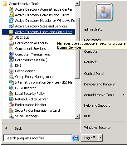 windows-server-2008-start-menu-active-directory