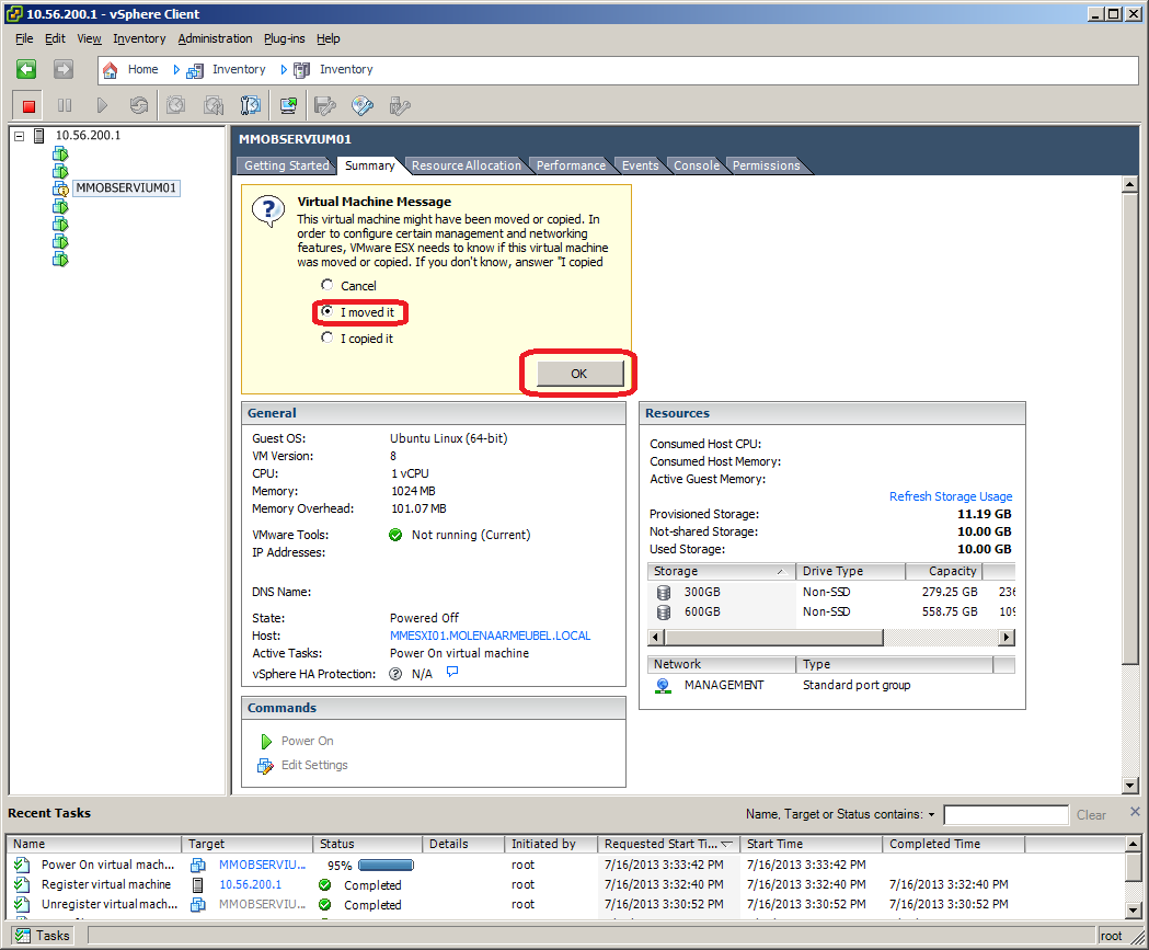 VMWare ESXi 5 Move VM to Different Datastore | NetworkLessons com