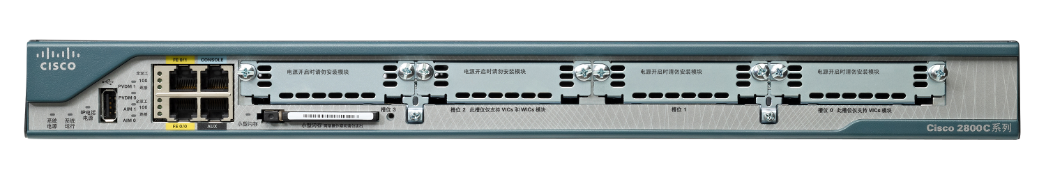 cisco isr router 2800 back