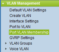 Cisco SMB Port VLAN Membership