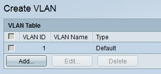Cisco SMB Switch Create VLAN