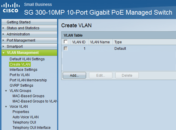 Cisco Small Business Switch VLAN Configuration