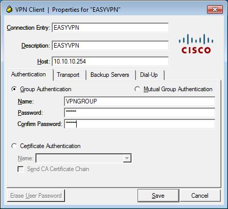 Cisco IPsec Easy VPN Configuration | NetworkLessons com
