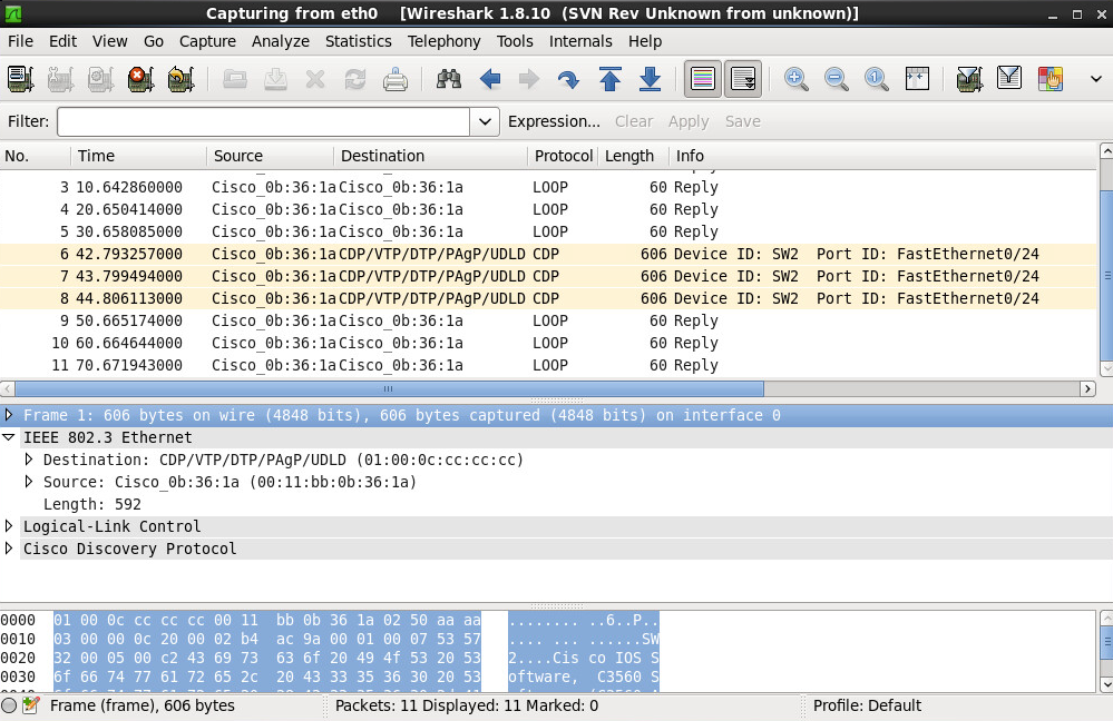 Wireshark Cisco Native VLAN