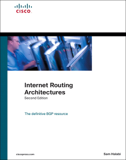 Internet Routing Architectures Book