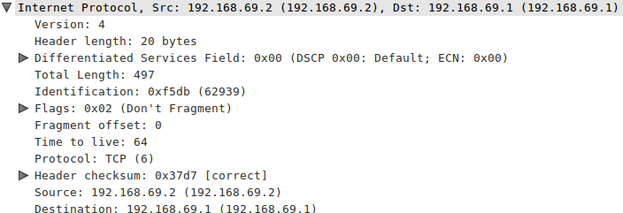 Wireshark IP Version 4 Fields