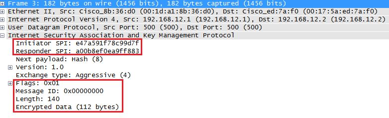 wireshark capture ikev1 aggressive mode message