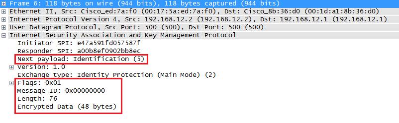 wireshark capture ikev1 main mode message 6