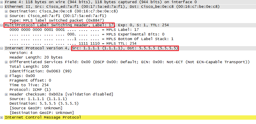 wireshark capture mpls encapsulated icmp