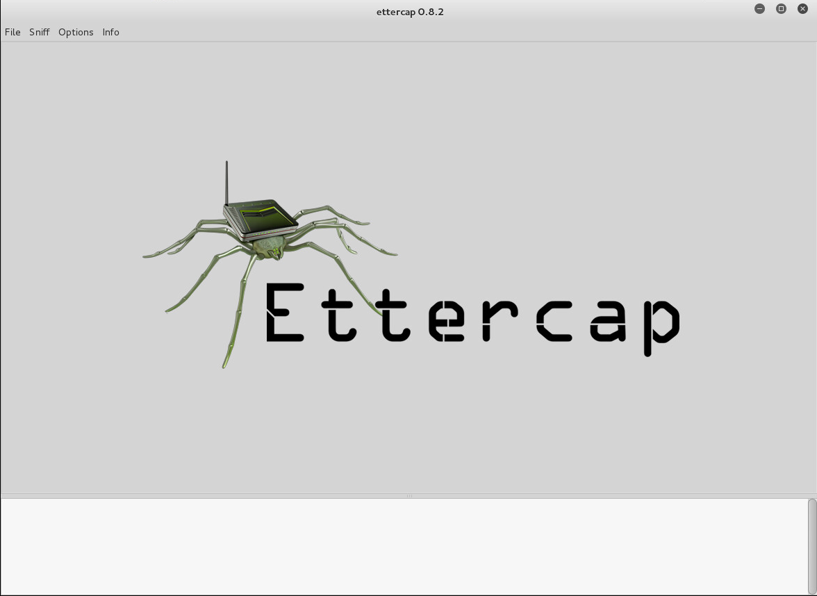 ettercap main screen
