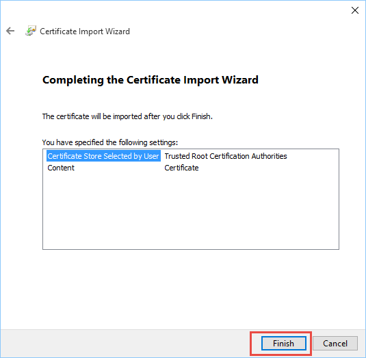 openssl finish install root certificate