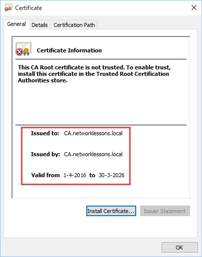 OpenSSL Root Certificate