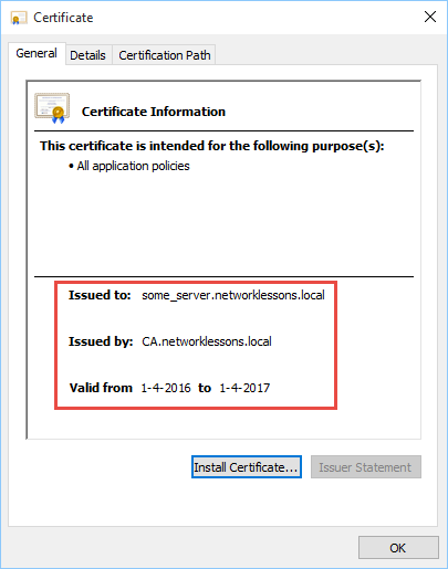 openssl server certificate trusted