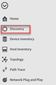 apic em discovery menu