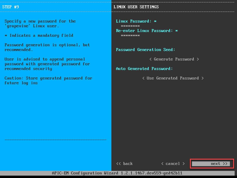 apic em linux user settings