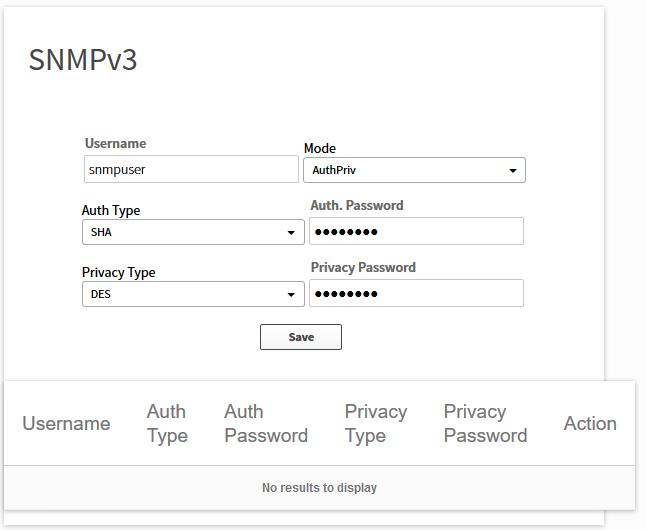 apic em settings snmpv3