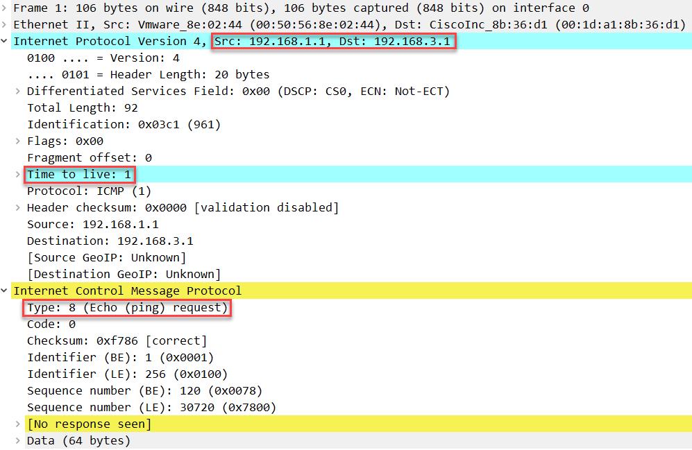 windows traceroute icmp request ttl 1