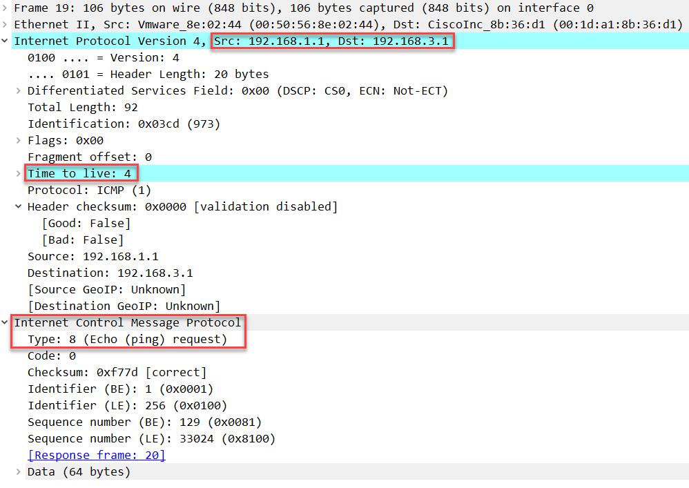 windows traceroute icmp request ttl 4