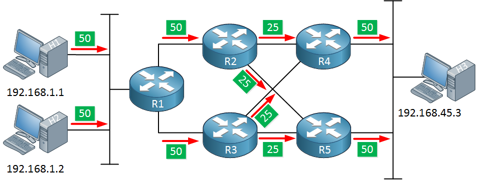 cef polarization igp load balancing