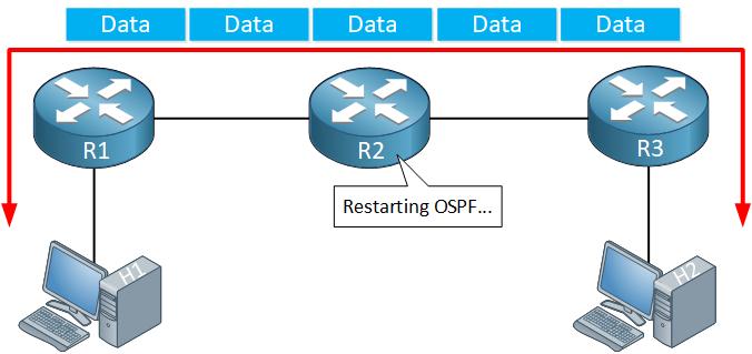 ospf graceful restart data forwarding during restart